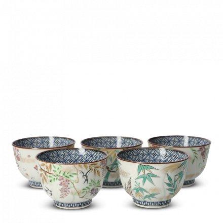 Teetassen Japan Porzellan 5er Set Irodorikachō