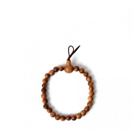 Bracelet de perles de prière en bois de santal L<br>par Yamada-Matsu