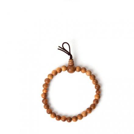 Bracelet de perles de prière en bois de santal M<br>Par Yamada-Matsu