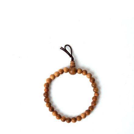 Bracelet de perles de prière en bois de santal S<br>par Yamada-Matsu