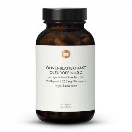 Extrait de Feuille d'Olivier en gélules fortement dosé, Oleuropéine 40 %