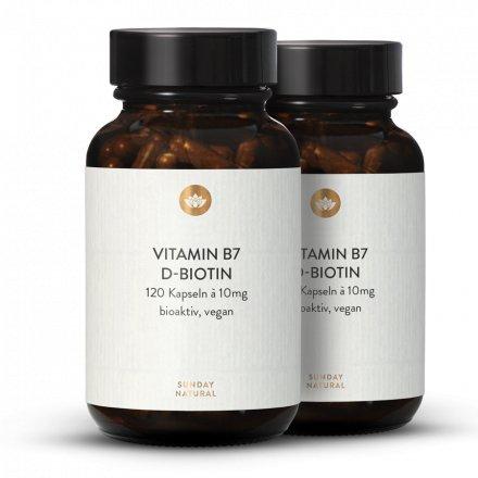 Gélules de D-biotine dosage élevé 10 mg