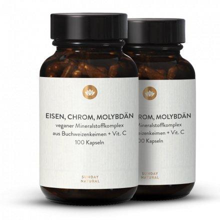 Fer, Chrome Et Molybdène + Vitamine C En Gélules