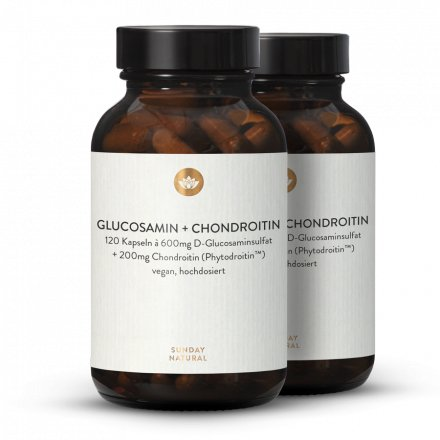 Glucosamine 600mg + Chondroïtine 200mg, Dosage Élevé