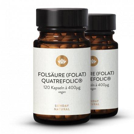 Gélules d'acide Folique (Folate) Quatrefolic® 400µg