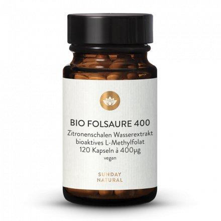 Gélules D'acide Folique Bio (Folate) 400µg