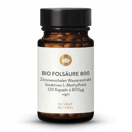 Gélules D'acide Folique Bio (Folate) 800µg