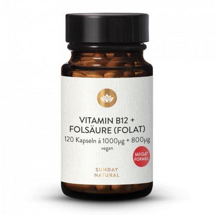 Vitamine B12 + Acide Folique (MH3A® + L-Méthylfolate) 1000µg + 800µg