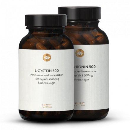 Coffret Cystéine + Méthionine, Issues de Fermentation, vegan