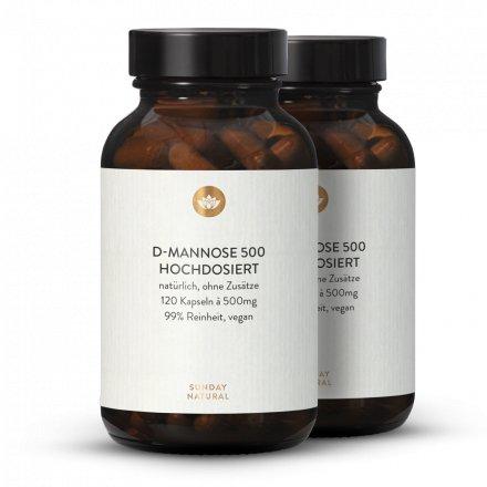 Gélules De D-Mannose 500mg, Dosage Élevé