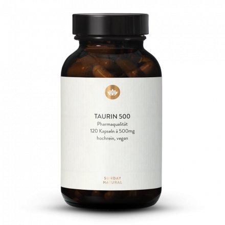 Taurine 500 mg en gélules de qualité pharmaceutique