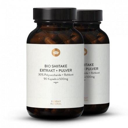 Extrait + Poudre De Shiitake Bio En Gélules