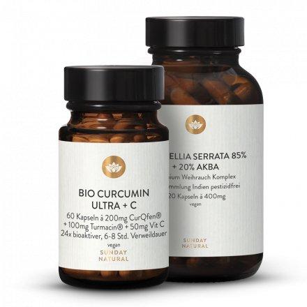 Curcumine Ultra + Vitamine C + Boswellia Serrata 85% + AKBA 20%