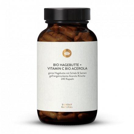Cynorhodon Bio + Vitamine C Acérola Bio En Gélules