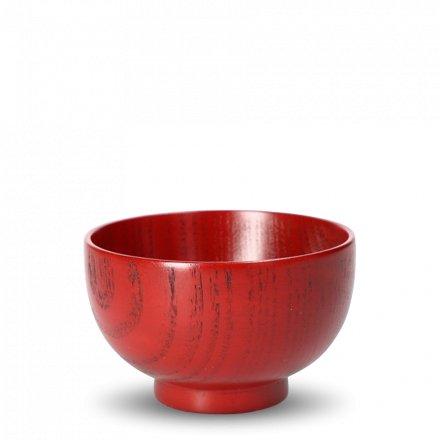 Vaisselle japonaise en bois Kyōgata rouge