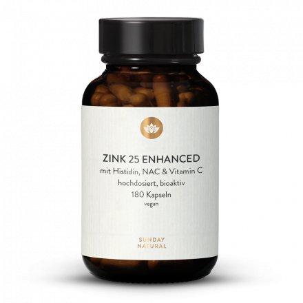 Zinc 25 Enrichi Histidine + NAC + Vitamine C