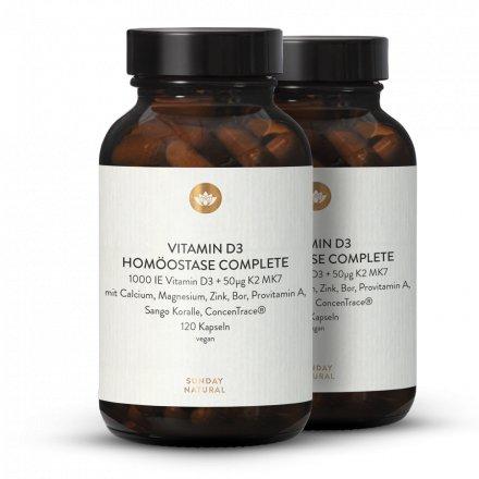 Vitamine D3 Homéostasie Complète Vegan 120 Gélules