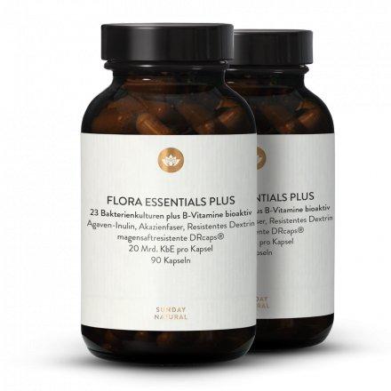 Flora Essentials Plus + Complexe De Vitamine B Bioactif + Fibres Gélules