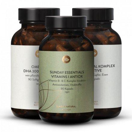 Coffret médecine orthomoléculaire Multimineral Sensitive +  Vitamins I + Oméga-3