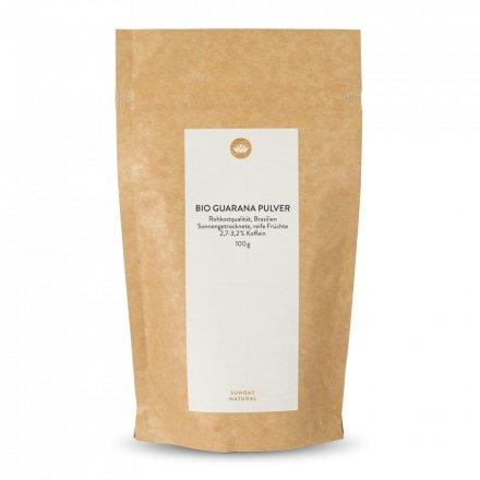 Guarana bio en poudre aliment cru  2,7-3,2 % de caféine