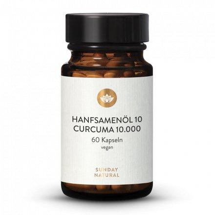 Huile de chanvre 10  Curcuma 10 000