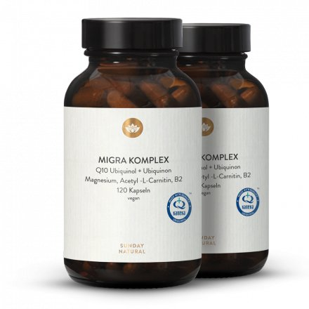 COMPLEXE MIGRA  Q10, magnésium, acétyl-L-carnitine, B2